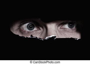 スパイ行為, 恐い, 目, 人