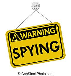 スパイ行為, 警告