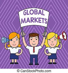 スパイ, すべて, 概念, 人々, テキスト, 世界的である, 国, ブランク, ガラス, 意味, demonstration., 取引, 手書き, 平和である, サービス, 世界, markets., メガホン, 旗, 商品