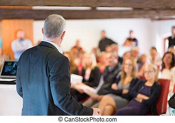 スピーカー, 会議, ビジネス, presentation.