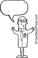 スピーチ泡, 漫画, 医者