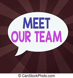 スピーチ, もう1(つ・人), 私達の, 導入, 形, team., 個人, 会社, ブランク, ビジネス 概念, 会いなさい, チームメイト, 単語, オバール, 影, 固体, 執筆, 泡, あなたの, バックグラウンド。, テキスト, 爆発, 色