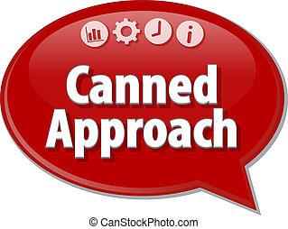 スピーチ, ビジネス, 泡, アプローチ, 缶詰にされる, イラスト, 用語