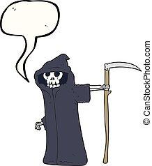 スピーチ, 死, 泡, 漫画