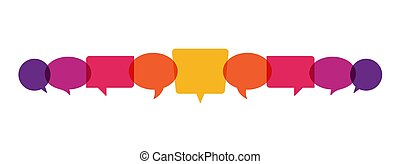 スピーチ, 泡, 概念, イラスト, ベクトル, コミュニケーション