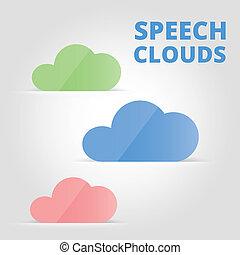 スピーチ, 雲