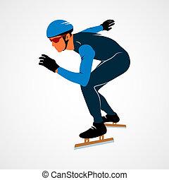 スピード, シルエット, スケーター