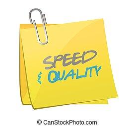 スピード, ポスト, 品質, イラスト