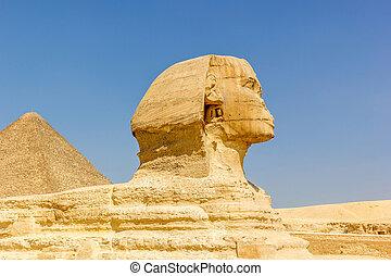 スフィンクス, そして, ピラミッド, の, cheops