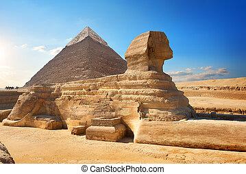 スフィンクス, そして, ピラミッド