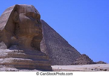 &, スフィンクス, ピラミッド