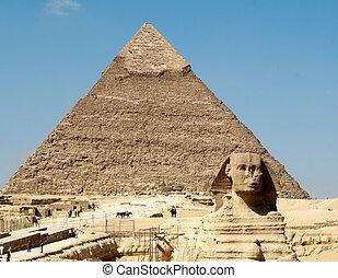 スフィンクス, ピラミッド, khafre