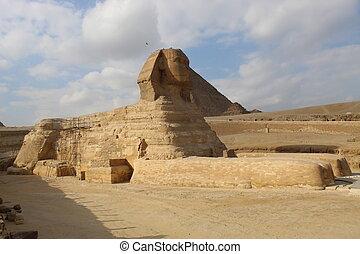 スフィンクス, フルである, ピラミッド, 体