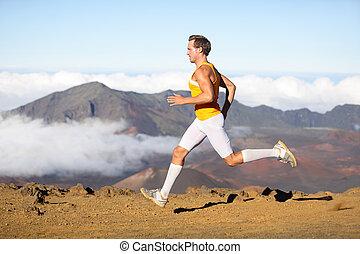 スプリント, ランナー, 運動選手, 速い, 動くこと, 人