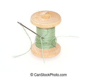 スプール, の, 糸