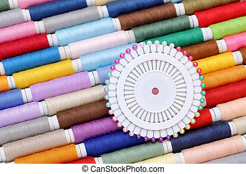 スプール, 針, 糸, 裁縫