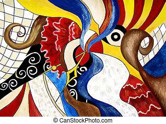 スペイン語, 絵, 主題, 抽象的