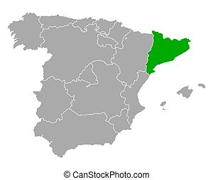 スペイン, 地図, カタロニア