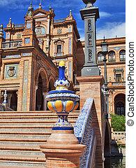 """スペイン, 広場, seville, andalusia, """"plaza, スペイン語, espana"""", de"""