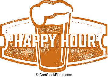 スペシャル, ビール, 時間, 幸せ
