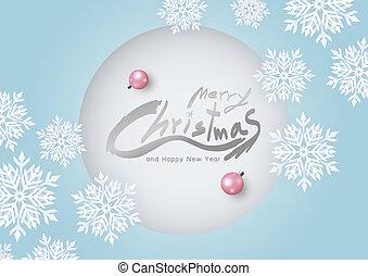 スペースイラスト, クリスマス, ベクトル, デザイン, 白, コピー, 雪片, カード