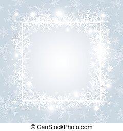 スペースイラスト, クリスマス, ベクトル, デザイン, 背景, コピー, 雪片