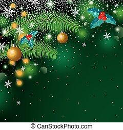 スペースイラスト, ベクトル, デザイン, 背景, コピー, クリスマス