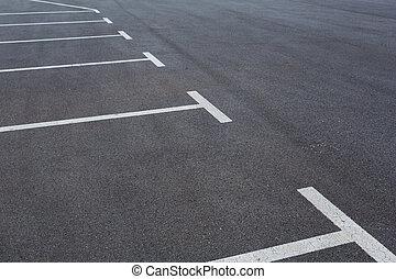 スペース, たくさん, 駐車