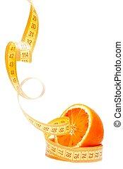 スペース, テキスト, 半分, 測定, 1(人・つ), テープ, 食事, オレンジ