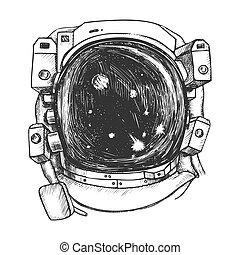 スペース, ベクトル, 宇宙飛行士訴訟, モノクローム, さらされること