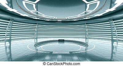 スペース, 抽象的, 白熱, 駅, 空, 未来派