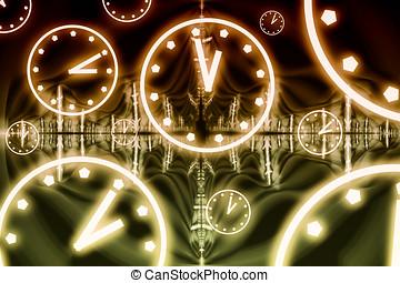 スペース, 抽象的, 相対性, -, イラスト, 時間