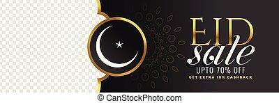 スペース, 祝祭, イメージ, セール, 黒, eid, 旗