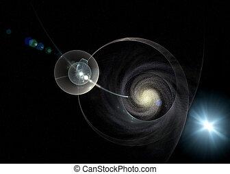 スペース, 銀河, 光線, 神秘主義である