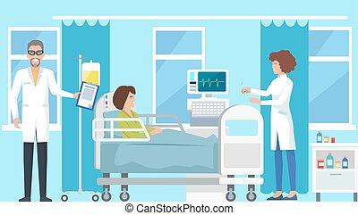 スポイト, 看護婦, ベクトル, イラスト, 医者