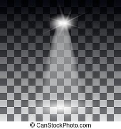 スポットライト, 現場, ライト, effects., ステージライト, スポットライト, vector., ベクトル,...