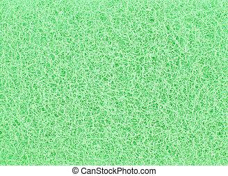 スポンジ, 抽象的, 緑の背景, 手ざわり
