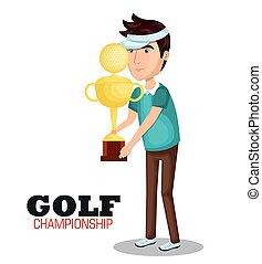 スポーツ, ゴルフ, 選手権, アイコン