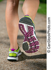 スポーツ, ジョッギング, 訓練, 動くこと, 靴