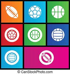スポーツ, スタイル, ボール, 地下鉄, アイコン