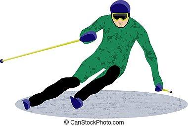 スポーツ, スラローム, 滑降スキー
