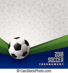 スポーツ, デザイン, 2018, トーナメント, サッカー, ポスター