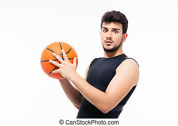 スポーツ, バスケットボール, 驚かされる, 保有物, 人