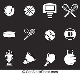 スポーツ, ボール, セット, アイコン
