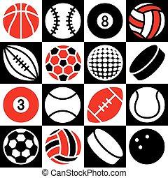 スポーツ, ボール, チェッカー盤