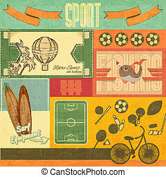 スポーツ, レトロ, カード