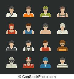 スポーツ, 人々, アイコン