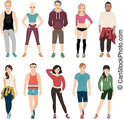 スポーツ, 人々, yound, 衣装