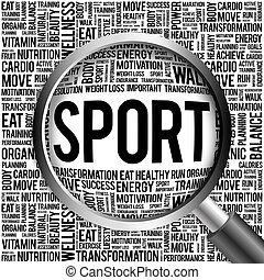 スポーツ, 単語, 雲