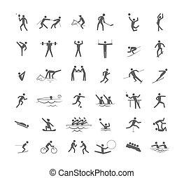 スポーツ, 大きい, オリンピック, セット, ゲーム